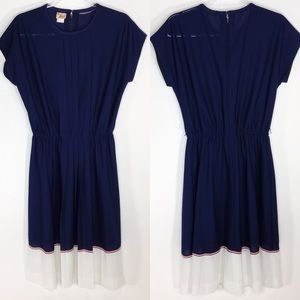 Vintage Herman Marcus Studios Pleated Midi Dress